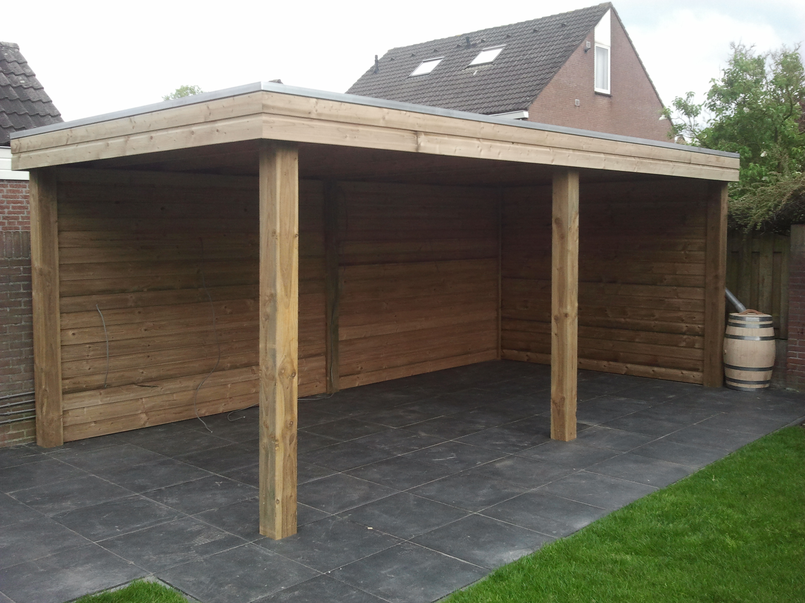 Overkapping Tuin Hout : Tuinhout m hoefnagels